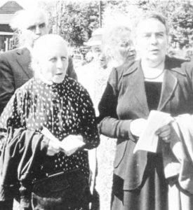 Gertrud Schwarz (links) und Martha Begemann (rechts)
