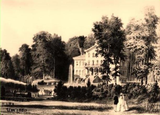 Das Sophienbad um 1860