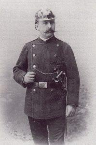Eduard von Hein, Mitbegründer der Freiwilligen Feuerwehr und Wehrführer 1887-1896